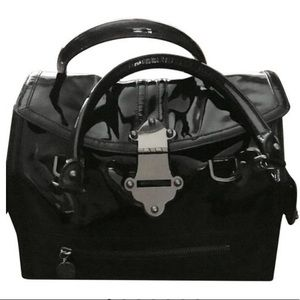 Tracy Reese New York Black Leather Shoulder Bag
